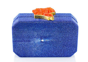 ANNA BLUM_ANDAMEE_MINAUDIERE CLUTCH_Ocean Blue with Coral_1_TB