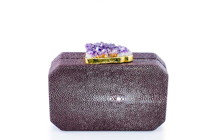ANNA BLUM_ANDAMEE_MINAUDIERE CLUTCH_Plum with Amethyst_1