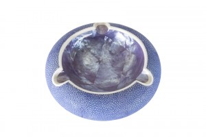 ANNA BLUM_Ashtray_Arabian Night Shagreen_Purple Shell