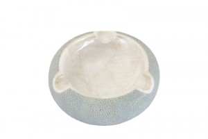 ANNA BLUM_Ashtray_China Blue Shagreen_MOP