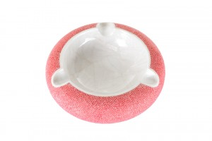 ANNA BLUM_Ashtray_Pagoda Red Shagreen_MOP
