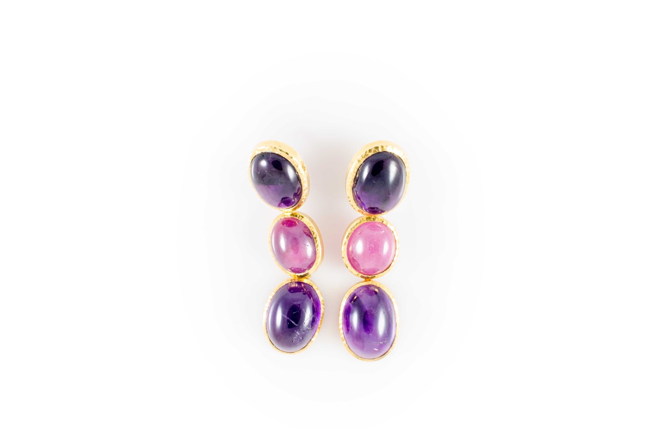 ANNA BLUM_CABAROQUE_EARRINGS_Amethyst_Ruby_Amethyst