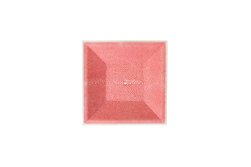 ANNA BLUM_Vide Poche_Shagreen_Pagoda red